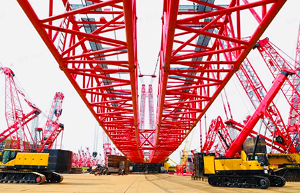 Lifting Beast in Industry: SANY 4000t Crawler Crane