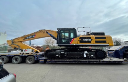 First 50t SANY SY500H in UK Delivered to Scottish Customer