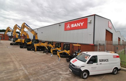 SANY Opens First UK Depot and Launches SANY Scotland